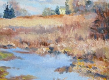 """Painting titled """"Wetlands"""" by Nancy Tracy, Original Art, Oil"""
