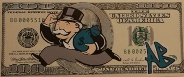 """Painting titled """"Billet Monopoly"""" by Nanoab, Original Art, Acrylic"""