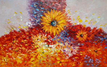 """Painting titled """"Field of flowers (1…"""" by Narek, Original Art, Oil Mounted on Stretcher frame"""