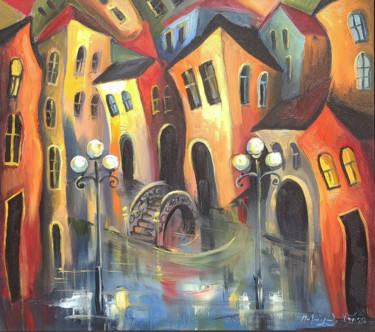 Architecture Painting, oil, impressionism, artwork by Narek