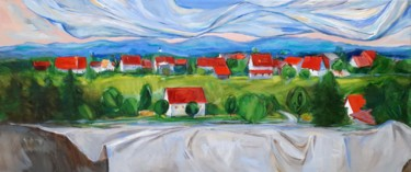 Landscape Painting, oil, figurative, artwork by Narine Grigoryan