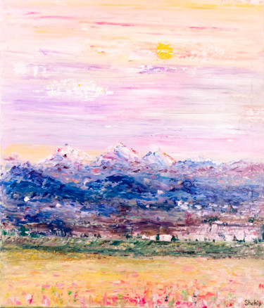 """Painting titled """"Sunny Valley"""" by Natalia Shchipakina, Original Art, Oil Mounted on Stretcher frame"""