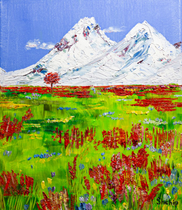 """Painting titled """"Alps"""" by Natalia Shchipakina, Original Art, Oil Mounted on Stretcher frame"""