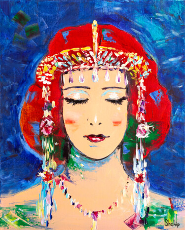 """Painting titled """"The Queen of Sheba"""" by Natalia Shchipakina, Original Art, Oil"""