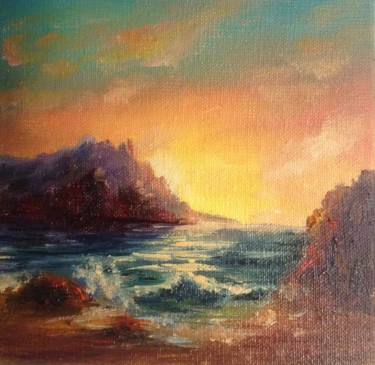 """Painting titled """"Amazing sea. small…"""" by Nata New, Original Art, Oil"""