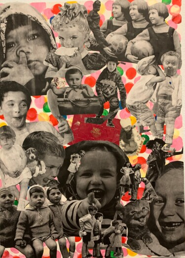 """Collages titled """"HAPPY CHILDHOOD"""" by Natali Shepeleva, Original Art, Collages"""