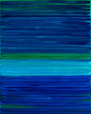 """Painting titled """"Blue 2"""" by Nataliia Sydorova, Original Art, Oil Mounted on Stretcher frame"""