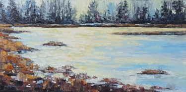 """Painting titled """"Sunny river"""" by Natalia Cherepovich, Original Art, Oil"""