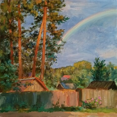 """Painting titled """"May rainbow"""" by Natalya Timchenko, Original Art, Oil Mounted on Stretcher frame"""