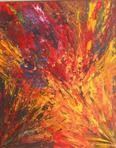 """Painting titled """"RAGE"""" by Nathalie Morin Rousseau, Original Art, Oil"""