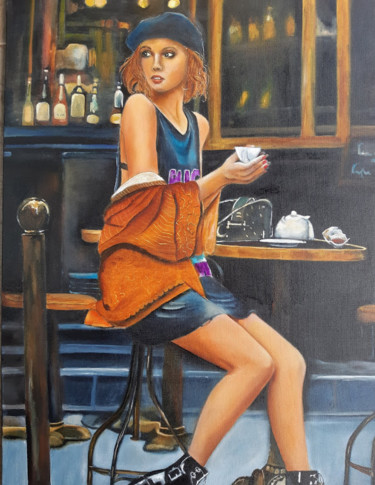 Painting, oil, artwork by Nelly Larue