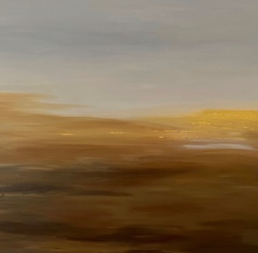 """Painting titled """"Silent Field"""" by Nelly Marlier, Original Art, Acrylic Mounted on Stretcher frame"""