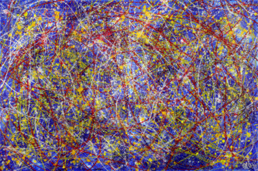 """Painting titled """"Tangled up in blue"""" by Nestor Toro, Original Art, Acrylic"""