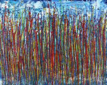 """Painting titled """"Faces of nature 26"""" by Nestor Toro, Original Art, Acrylic"""