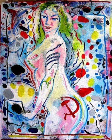 Painting, oil, expressionism, artwork by Nachum Furman