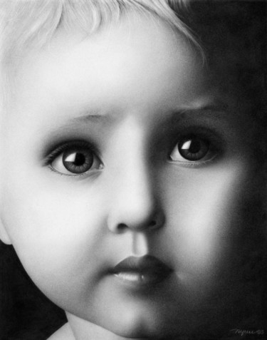 """Drawing titled """"INNOCENCE"""" by Ngay Ta, Original Art, Other"""