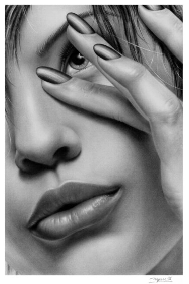 """Drawing titled """"THE LIPS"""" by Ngay Ta, Original Art, Other"""