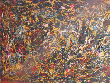 Painting, enamel, abstract, artwork by Romeo