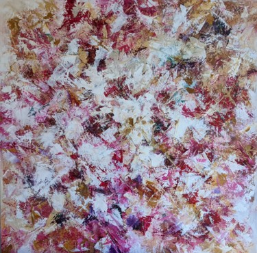 """Painting titled """"Roseraie"""" by Nicole Caron, Original Art, Oil"""
