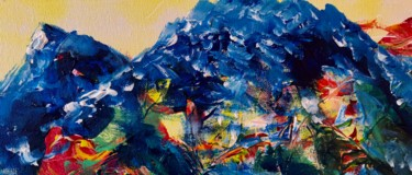 """Painting titled """"The Mountains Kampe…"""" by Nicole Cecil B, Original Art, Acrylic"""