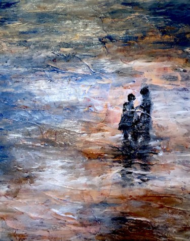"""Painting titled """"Chiemsee Love"""" by Nicole Cecil B, Original Art, Acrylic"""