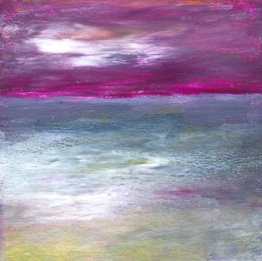 """Painting titled """"Pink Sky above the…"""" by Nicole Cecil B, Original Art, Acrylic"""