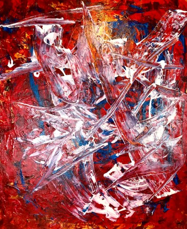 """Painting titled """"The Blue in my Red…"""" by Nicole Cecil B, Original Art, Acrylic"""