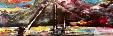 """Painting titled """"Chiemsee and Bavari…"""" by Nicole Cecil B, Original Art, Acrylic"""