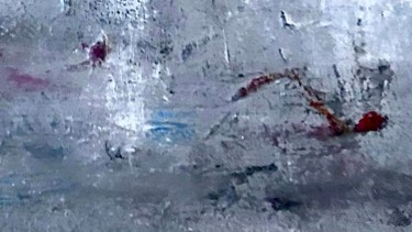 """Painting titled """"The Swimmer"""" by Nicole Cecil B, Original Art, Acrylic"""