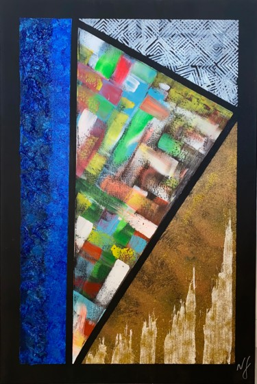 Color Painting, acrylic, abstract, artwork by Nídia Ferreira Borges