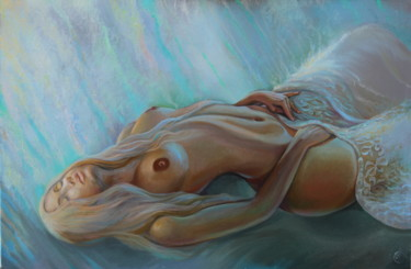 """Painting titled """"Dreaming"""" by Sergey Lesnikov, Original Art, Oil"""