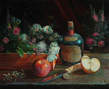 Painting, oil, classicism, artwork by Sergey Lesnikov