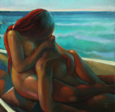Love Painting, oil, expressionism, artwork by Sergey Lesnikov