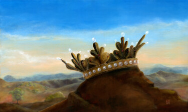 """Painting titled """"The Holy Crown (II)"""" by Ekaterina Nikidis, Original Art, Acrylic Mounted on Stretcher frame"""