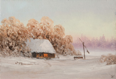 """Painting titled """"Winter, well"""" by Nikolay Lyamin, Original Art, Oil"""
