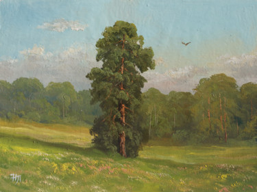 """Painting titled """"Lonely pine. Summer…"""" by Nikolay Lyamin, Original Art, Oil"""
