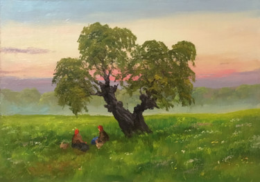 """Painting titled """"Under the beloved o…"""" by Nikolay Lyamin, Original Art, Oil"""
