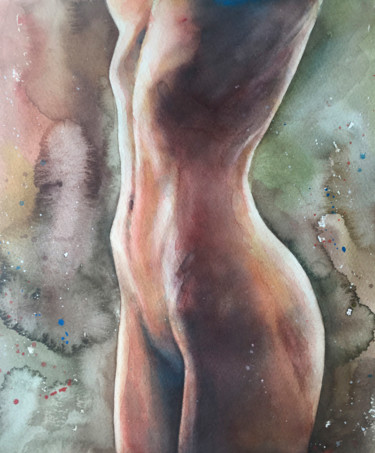 """Painting titled """"Watercolor on paper…"""" by Nina Ingilevich, Original Art, Watercolor"""