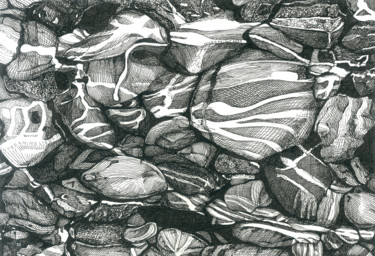 """Drawing titled """"STREAMING LIGHT II"""" by Nives Palmić, Original Art, Ink"""