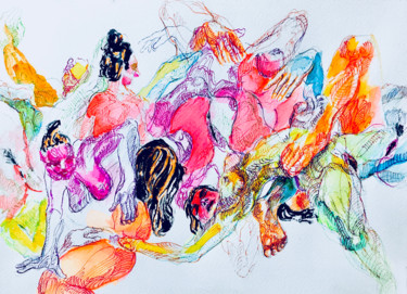 Painting, ink, expressionism, artwork by Nizaac Vallejo