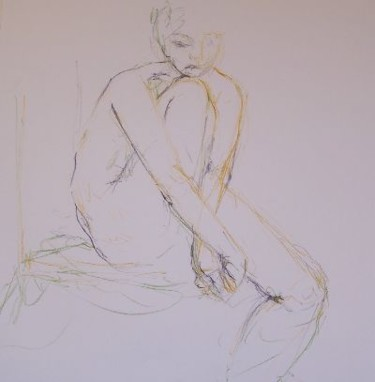 """Drawing titled """"Line drawing nr 8"""" by N.M.Mathieu, Original Art, Other"""