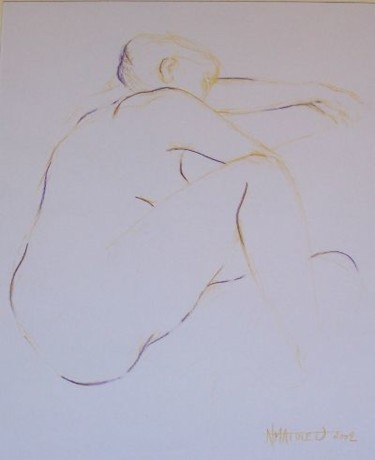 """Drawing titled """"Line drawing n°15"""" by N.M.Mathieu, Original Art, Other"""