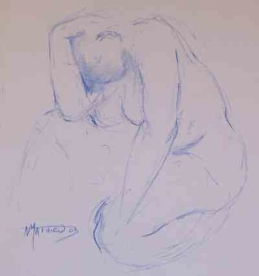 """Drawing titled """"Line drawing n° 18"""" by N.M.Mathieu, Original Art, Other"""