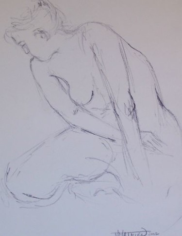 """Drawing titled """"Line drawing"""" by N.M.Mathieu, Original Art, Other"""