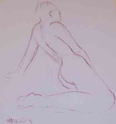 """Drawing titled """"Line drawing nr"""" by N.M.Mathieu, Original Art, Other"""