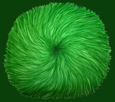 """Painting titled """"greenswirl1200.png"""" by Norachai, Original Art,"""