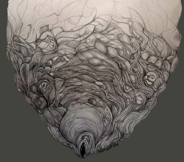 """Drawing titled """"Oyster"""" by Norachai, Original Art, Graphite"""