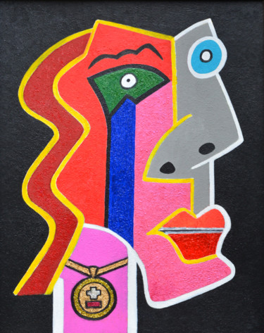 Painting, acrylic, cubism, artwork by Titan