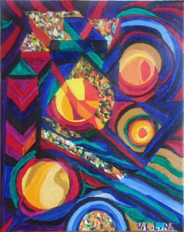 Color Painting, oil, abstract, artwork by Nororaja Peinturalhuile