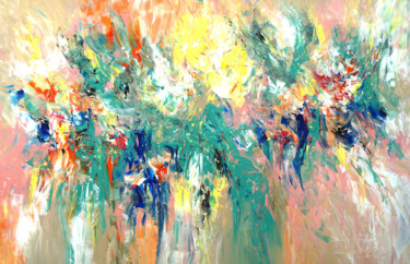 Painting, acrylic, abstract, artwork by Peter Nottrott